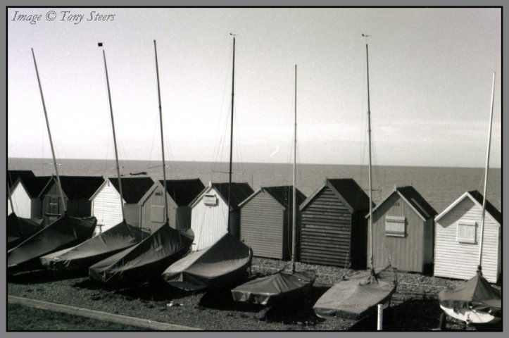 boats and beach huts - herne bay, kent