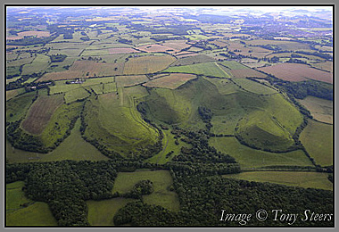 kentish lanscape from the air